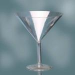 9'' PLASTIC MARTINI GLASS