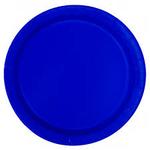 "16PCS  9"" Round Plates ROYAL BLUE SOLID"