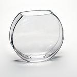 "Bullet Rectangle Vase, Size: 6"" Diameter X 3.5""X 2"" Opening X 5.5"" H"