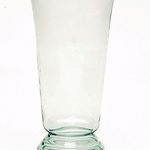 """Greco Glass Vase Clear, Size: 7"""" Opening X 14"""" H"""