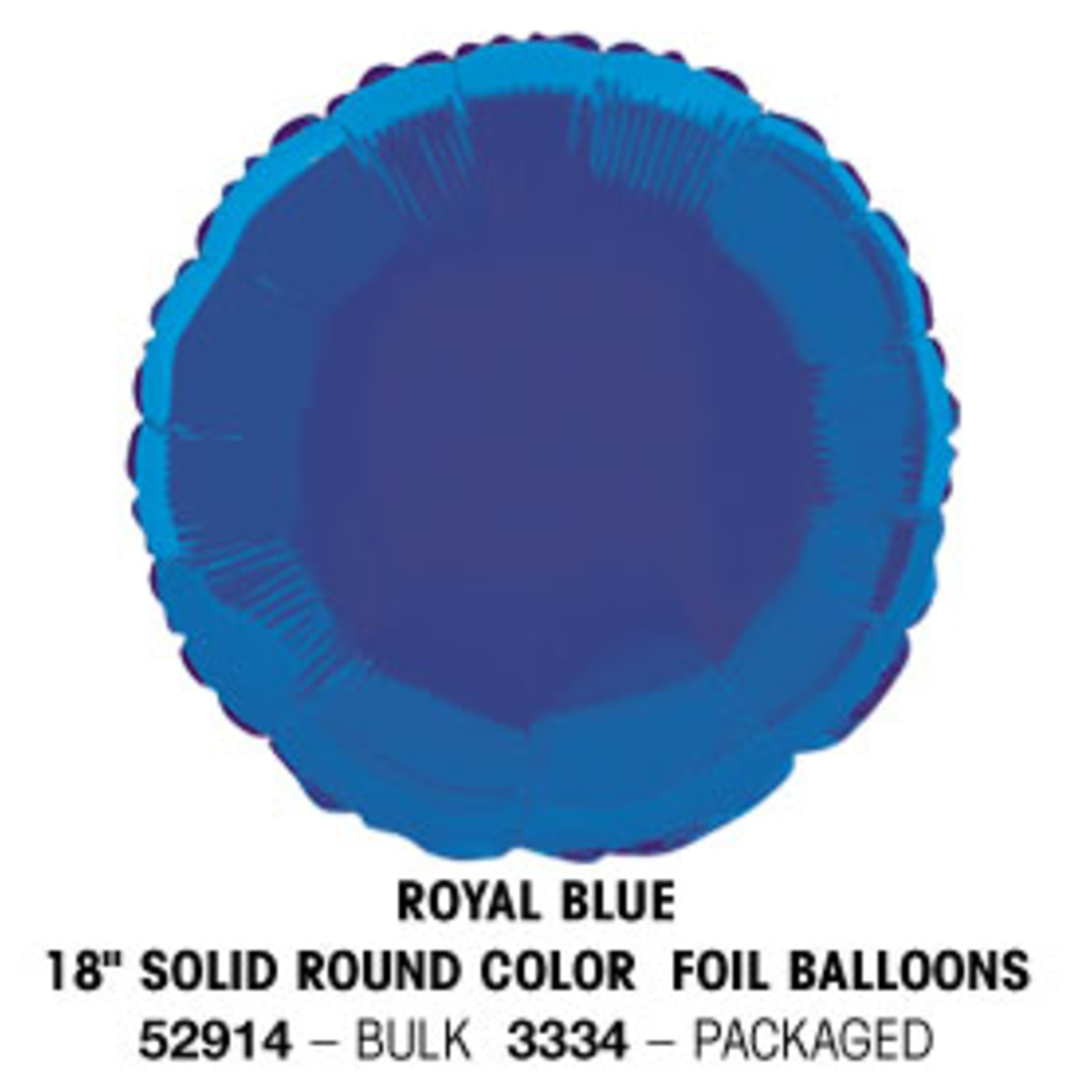 "18"""" Round Foil Balloon Bulk - Royal Blue"