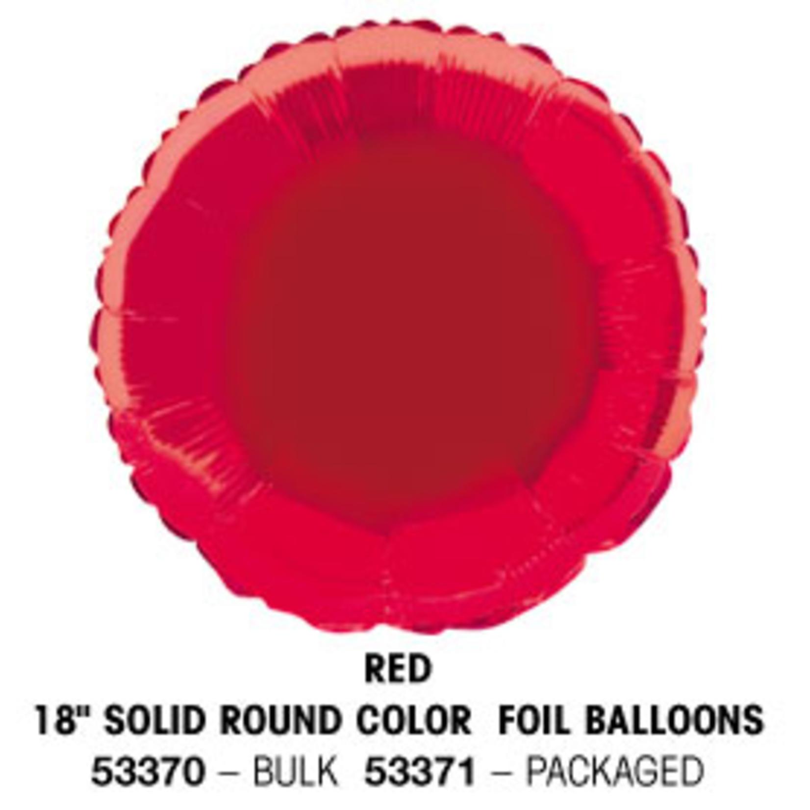 "18"""" Round Foil Balloon Bulk - Red"