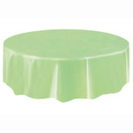 """84"""" TABLE COVER APPLE GREEN ROUND TC"""