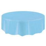"""84"""" TABLE COVER  POWDER BLUE ROUND TC"""