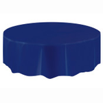 """84"""" ROUND TABLE COVER NAVY ROUND"""