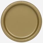 """16PCS  9"""" Round Plates GOLD SOLID"""