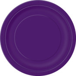 "16PCS  9"" Round Plates DEEP BLUE SOLID"