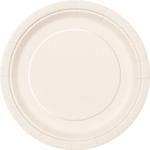 "16PCS  9"" Round Plates  IVORY SOLID"