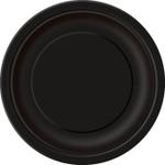 "16  9"" Round Plates MIDNIGHT BLACK SOLID"