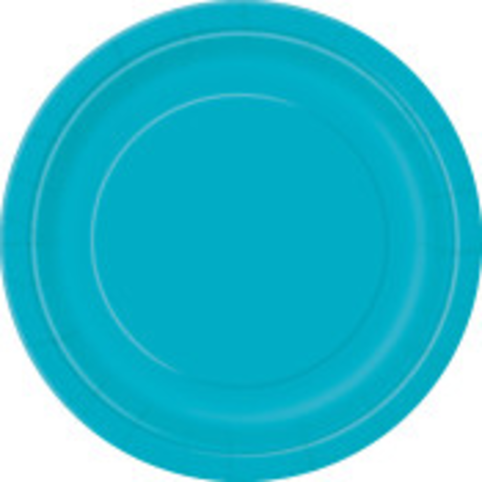 """20PCS  7"""" Round Plates CARIBBEAN TEAL SOLID"""