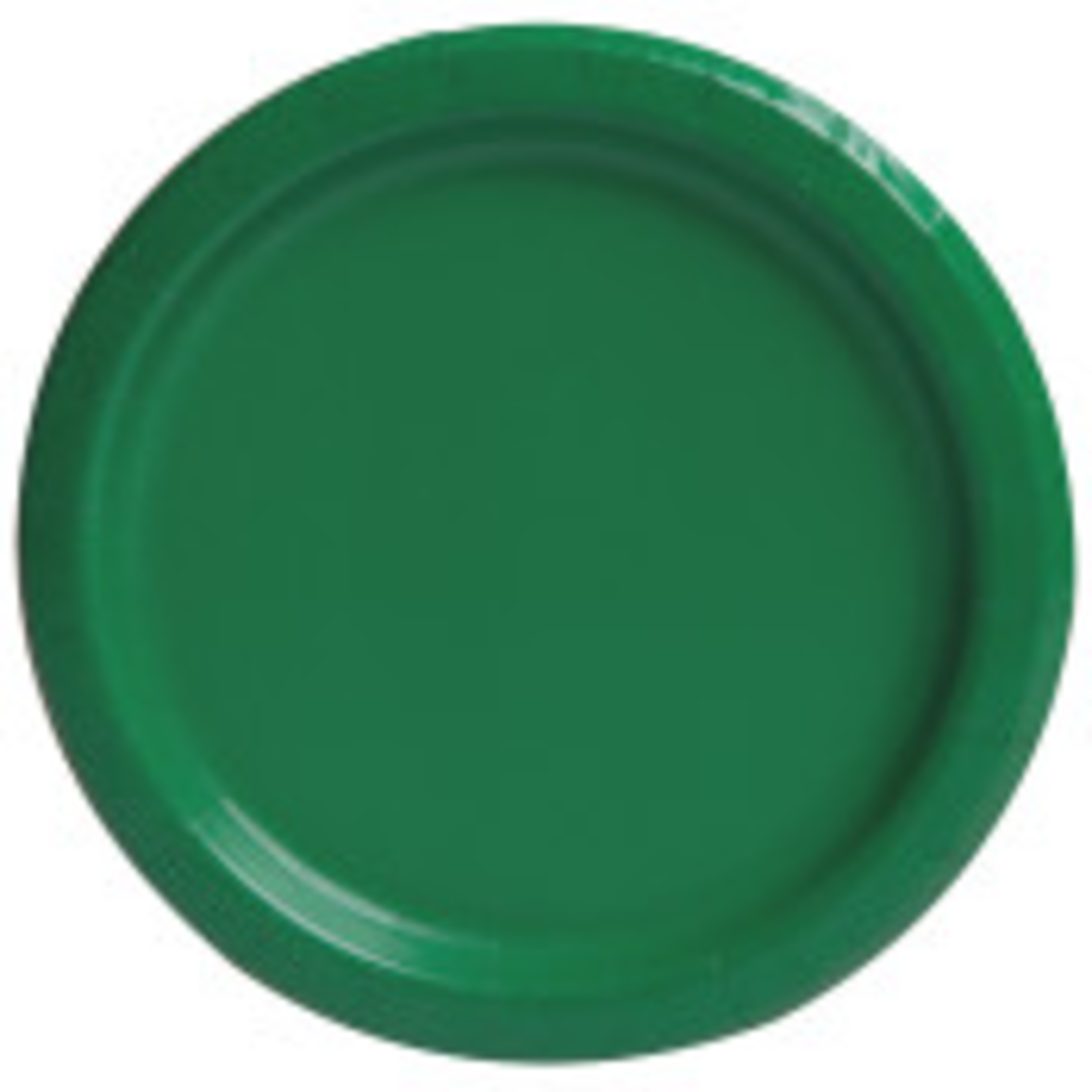 """20PCS 7"""" Round Plates EMERALD GREEN SOLID"""