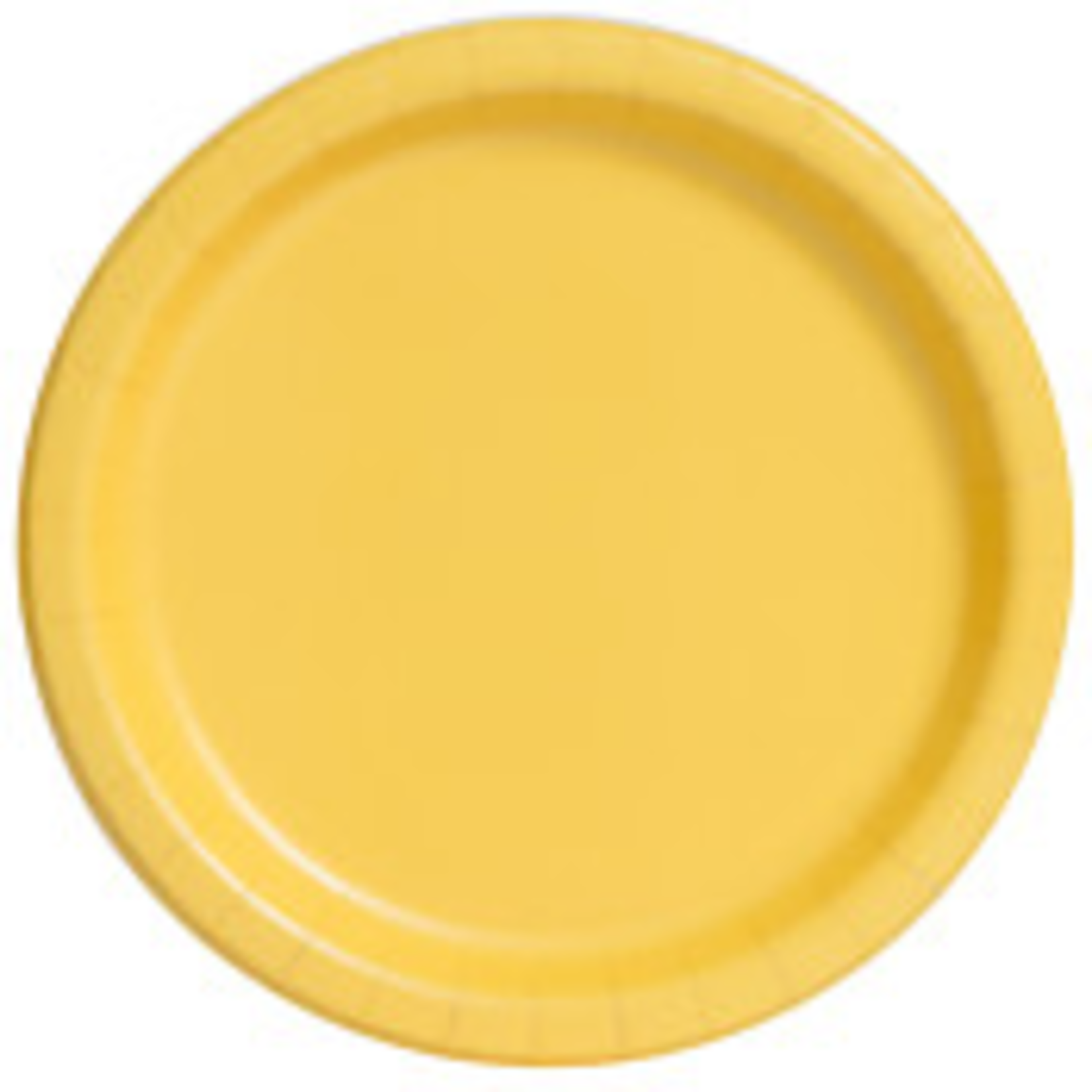 """20PCS 7""""  Round Plates SUNFLOWER YELLOW SOLID"""