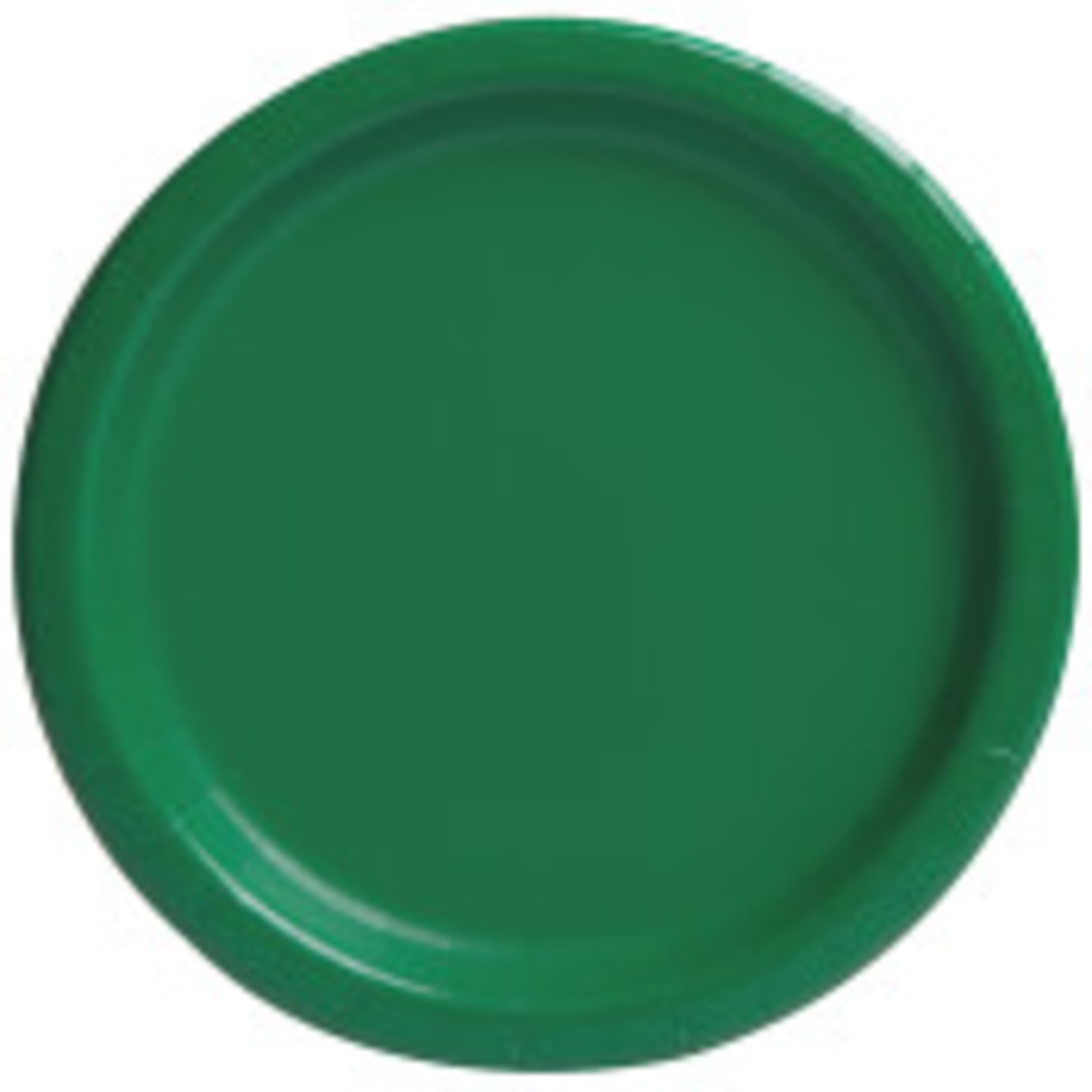 """16PCS  9"""" Round Plates  EMERALD GREEN SOLID"""