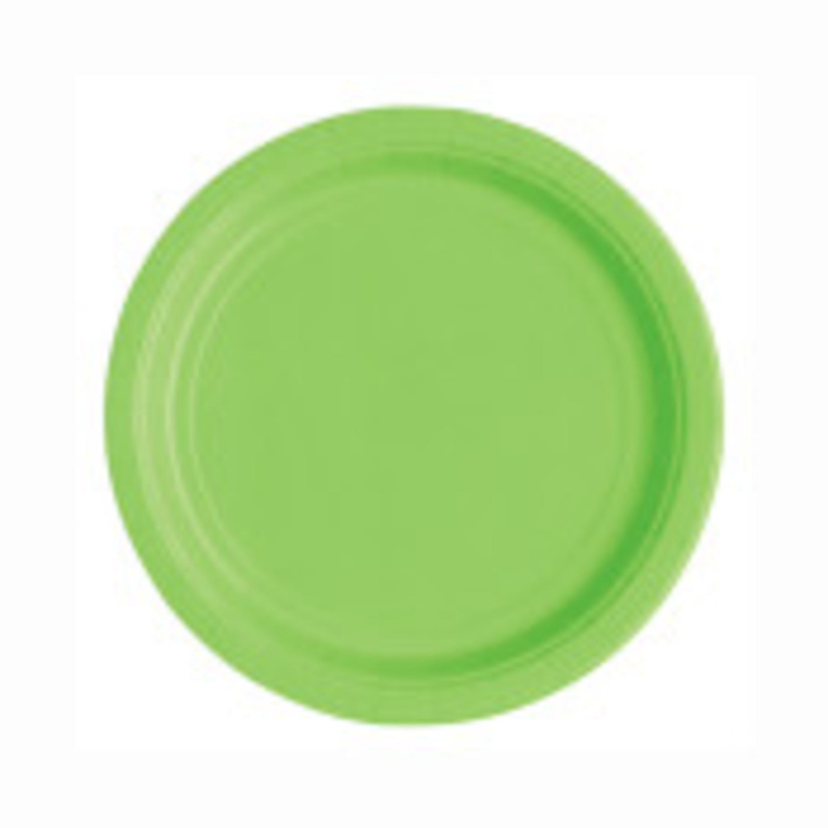 """20  7"""" Round Plates LIME GREEN SOLID"""