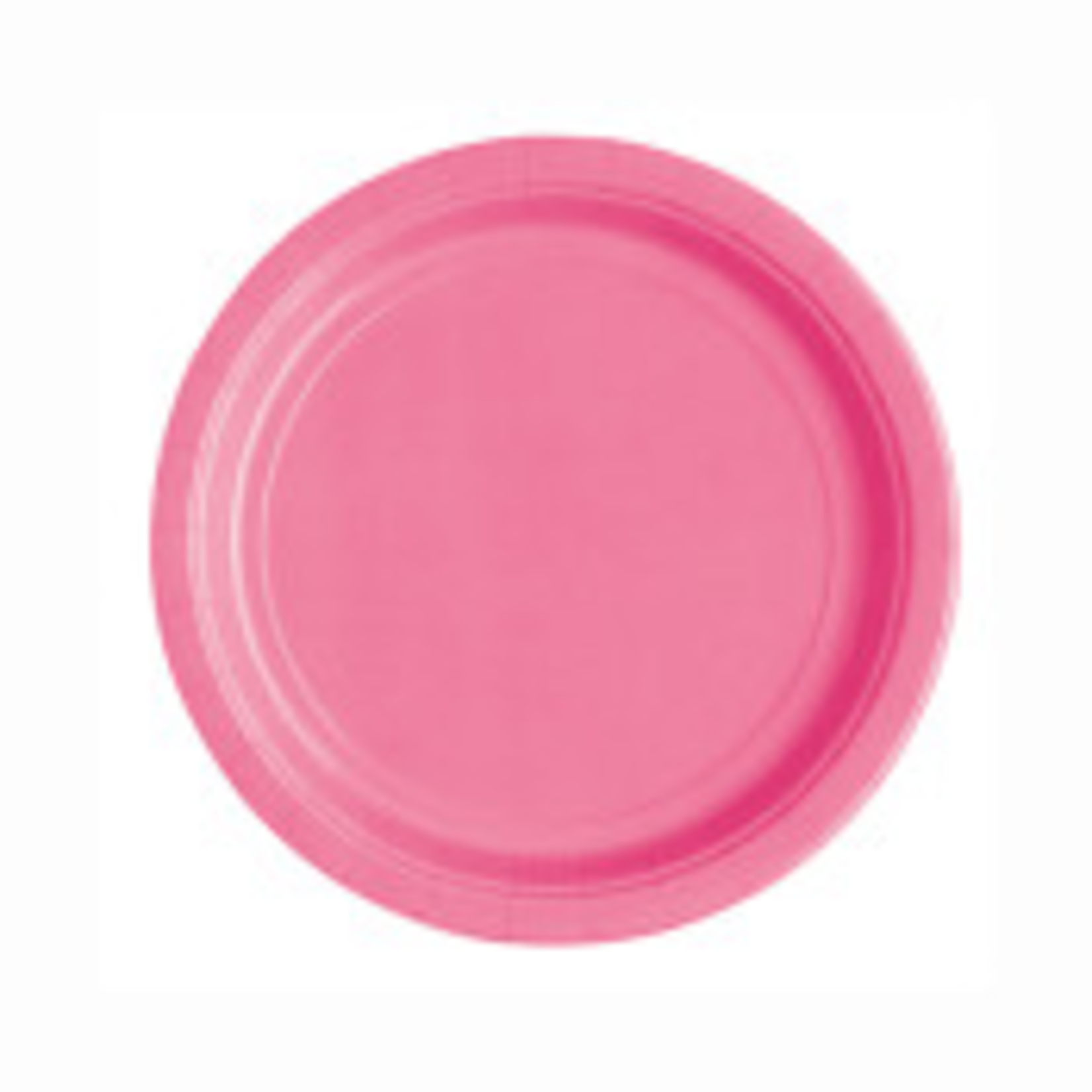"""20PCS 7""""  Round Plates HOT PINK SOLID"""