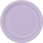 "16PCS  9"" Round Plates LAVENDER SOLID"