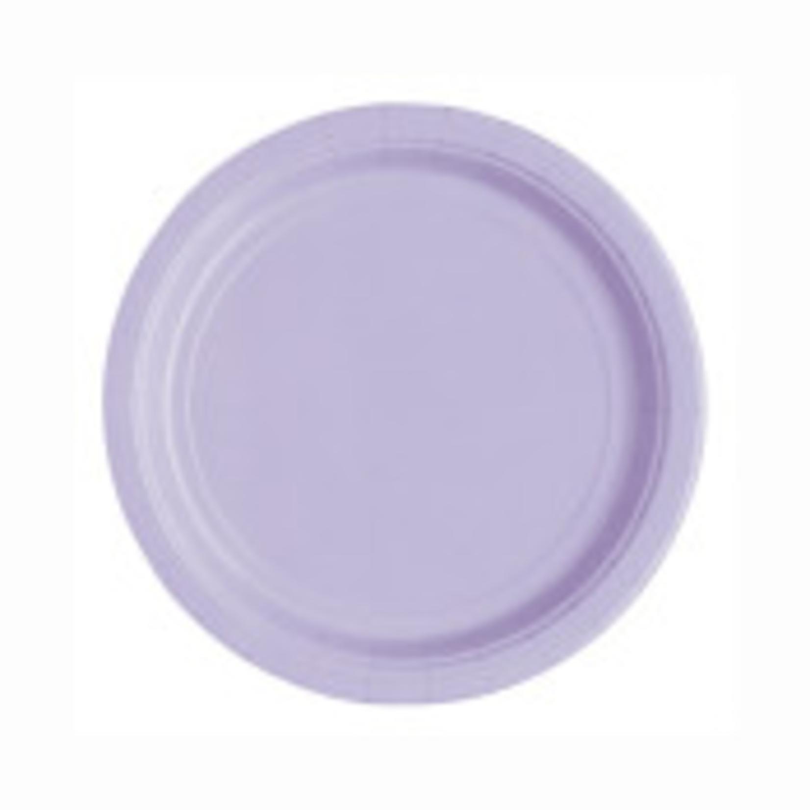 "20PCS 7""  Round Plates LAVENDER SOLID"