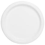 "16PCS  9"" Round Plates  BRIGHT WHITE SOLID"