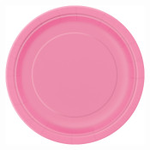 """16PCS  9"""" Round Plates HOT PINK SOLID"""
