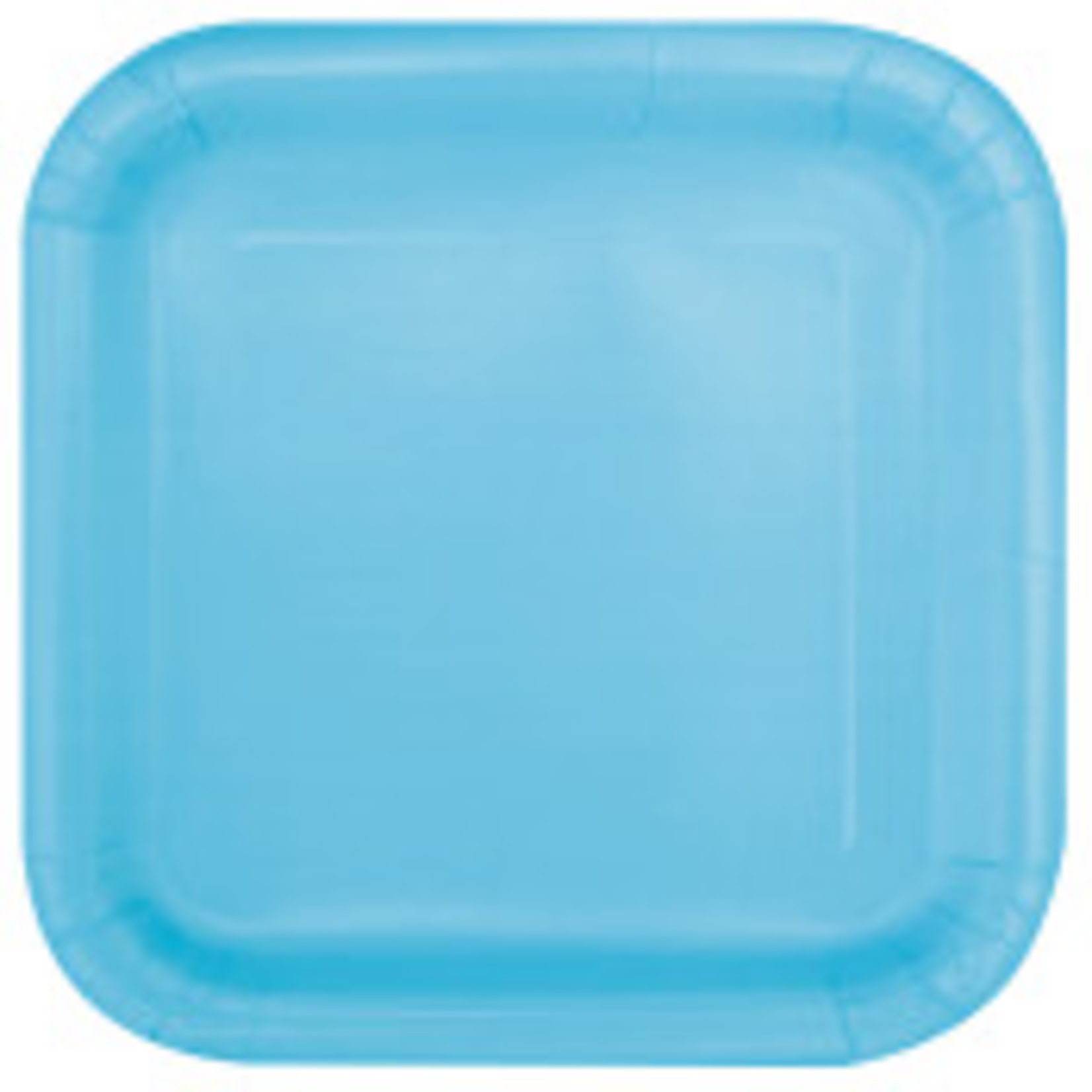 """WAS $1.29 NOW $1 16 pc powder blue 7"""" sq. plate"""