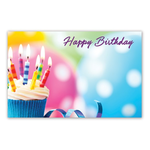 HAPPY BIRTHDAY CAPRI CARDS, CUPCAKE AND CANDLES