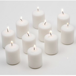 15HRS WHITE Votive Candles