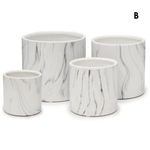 """H- 3"""" D- 3""""WHITE MARBLE COLLECTION"""