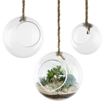 """50% off was $9 now $4.49 D-6"""" 34"""" rope HANGING GLASS ORB"""