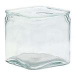 """6""""X 6"""" X 6"""" CLEAR GLASS CUBE W/ LIP"""