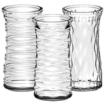 """9 3/8"""""""" Rose Vase Asst. - Crystal"""