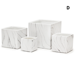 """H- 4"""" D- 4"""" x 4""""WHITE MARBLE COLLECTION"""