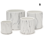 """H- 4"""" D- 4"""" WHITE MARBLE COLLECTION"""