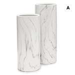 """H- 12""""   D- 5"""" WHITE MARBLE COLLECTION"""