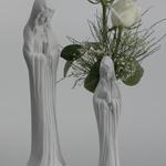 10 Inch Madonna Vase-Bisque