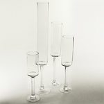 """Clear Pedestal Vase H-20""""; D-4"""""""
