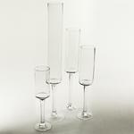 """Clear Pedestal Vase H-24""""""""; D-4"""""""""""