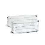 """Clear Oval Vase H-4"""""""" x Top-12""""""""x4"""""""""""