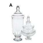 """Clear Apothecary Jars H-23"""""""", reg. $48.00, 50% off"""