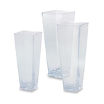 """Clear 14"""""""" Tapered Square H-14"""""""" x Top 5""""""""x5"""""""""""