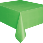 """Plastic Tablecover 54""""""""x108"""""""" -Lime Green"""