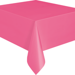 """Plastic Tablecover 54""""""""x108"""""""" -Hot Pink"""