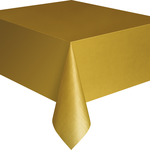 """Plastic Tablecover 54""""""""x108"""""""" -Gold"""