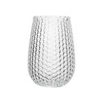 """6"""""""" Pebble Stone Vase - Crystal"""