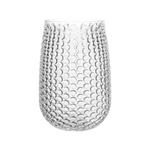 """7 5/8"""""""" Pebble Stone Vase - Crystal"""