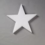 "4x1/2"""" STYROFOAM White Star (12 Per Bag)"