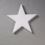 """9x1/2"""""""" STYROFOAM White Star"""