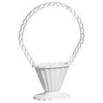 Fluted Basket - White