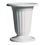 """11 1/4"""""""" Pedestal Urn - White"""