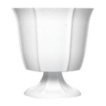 """8 1/4"""""""" Tulip Design Compote - White"""