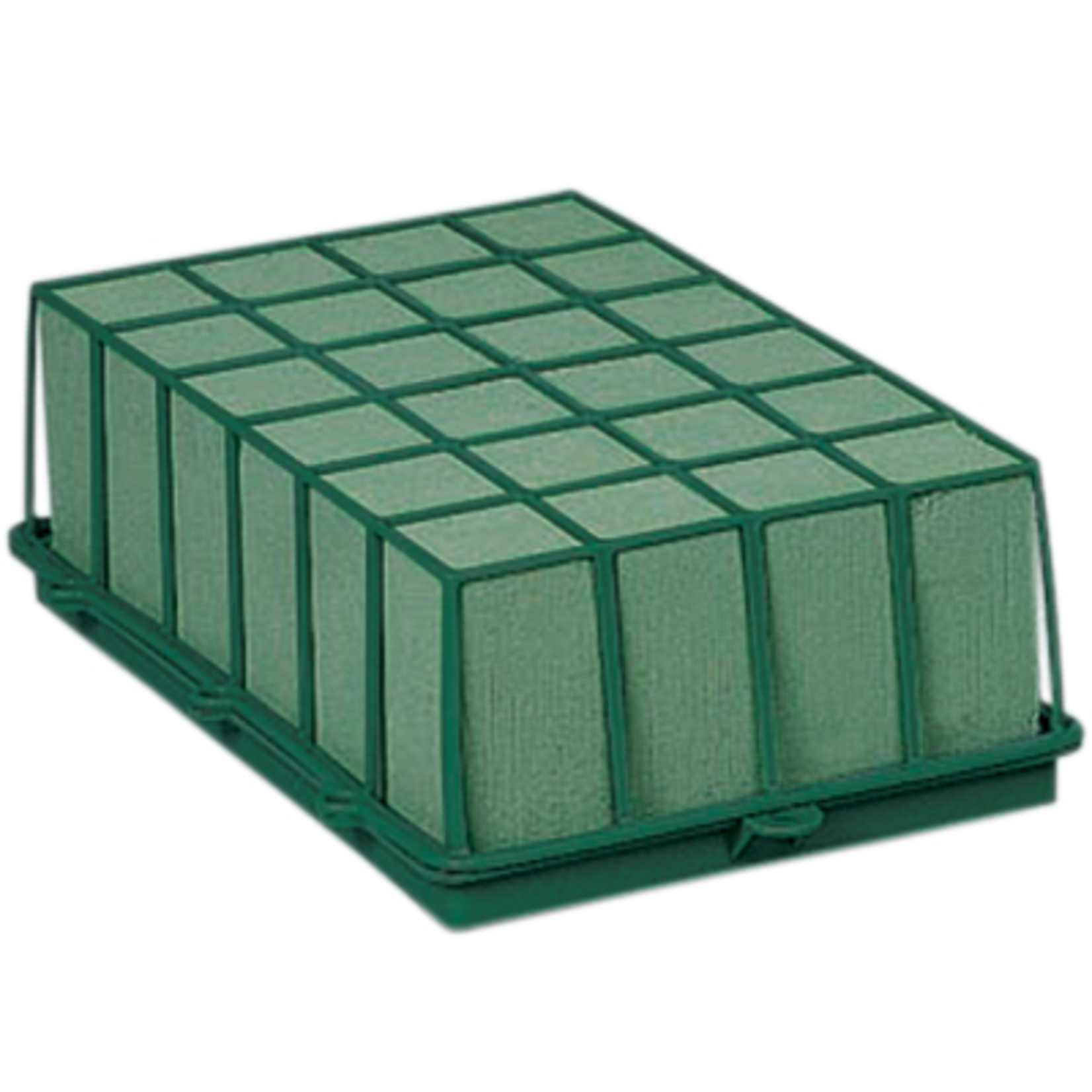 1 2/3 Brick Cage with Aquafoam - Green